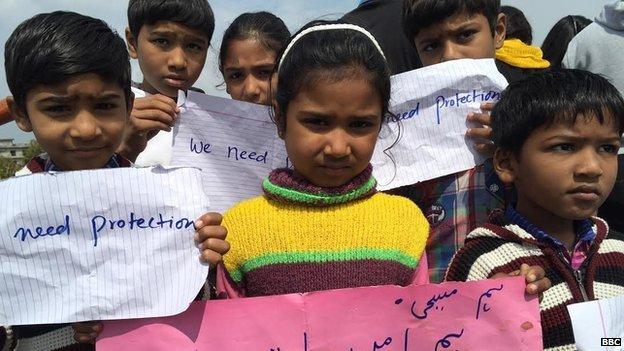 Christian children in Lahore