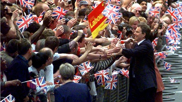 Tony Blair after his 1997 general election victory