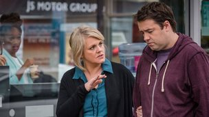 Sally Lindsay and Jason Manford in Ordinary Lies