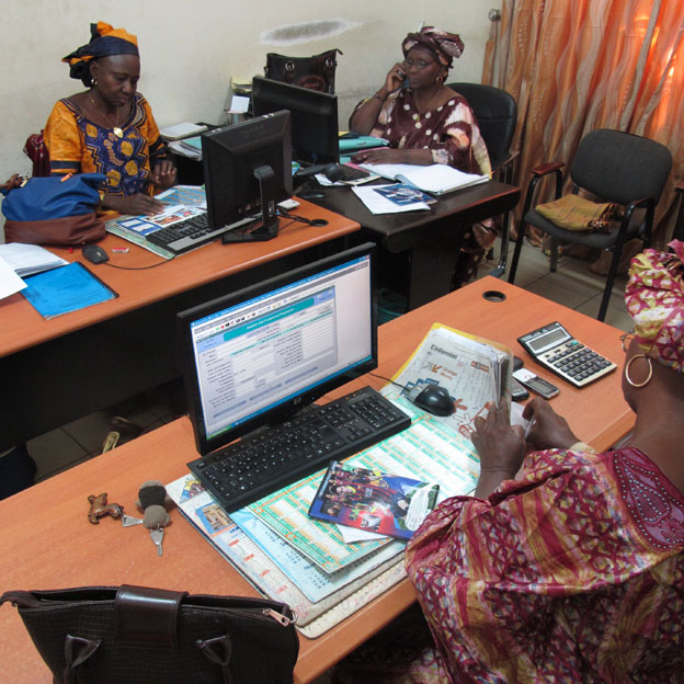 Tax officials in Bamako