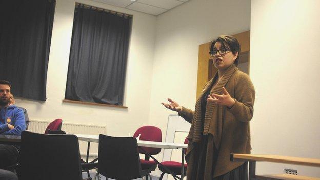 Elisa Vasquez-Walters of the Essex Feminist Collective