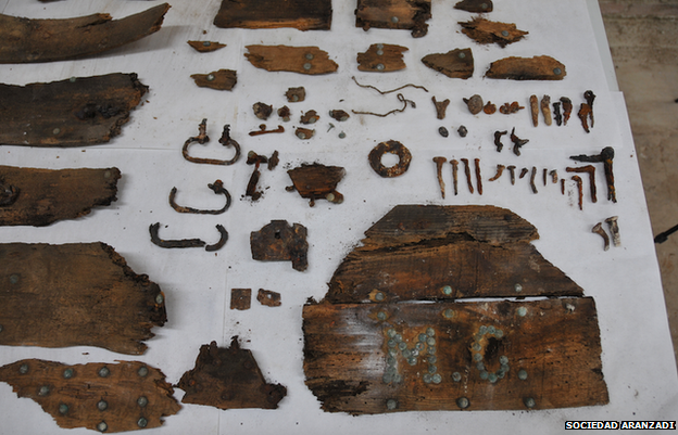 Initials M.C and other parts of the box found at the convent in January 2015