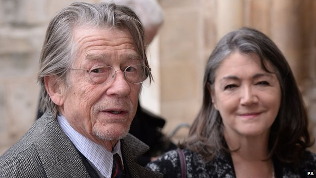 Sir John Hurt and his wife Anwen Rees-Myers