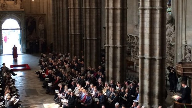 Lord Attenborough's thanksgiving service at Westminster Abbey