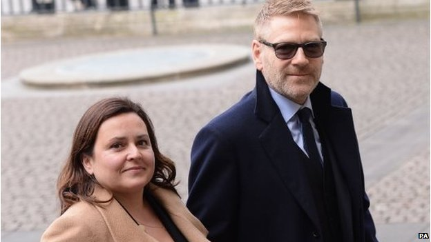 Sir Kenneth Branagh and his wife Lindsay Brunnock