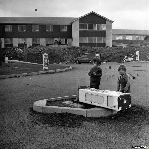 Children on Gurnos estate