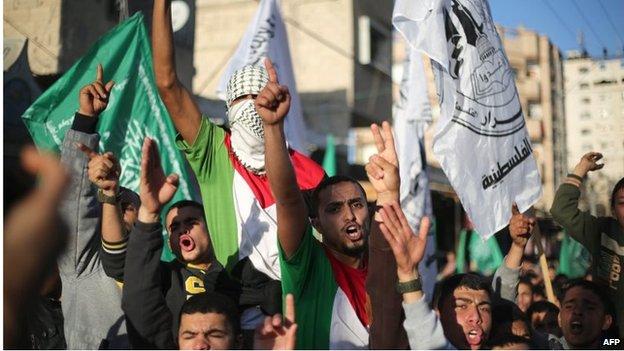 Hamas rally in Gaza (05/02/15)