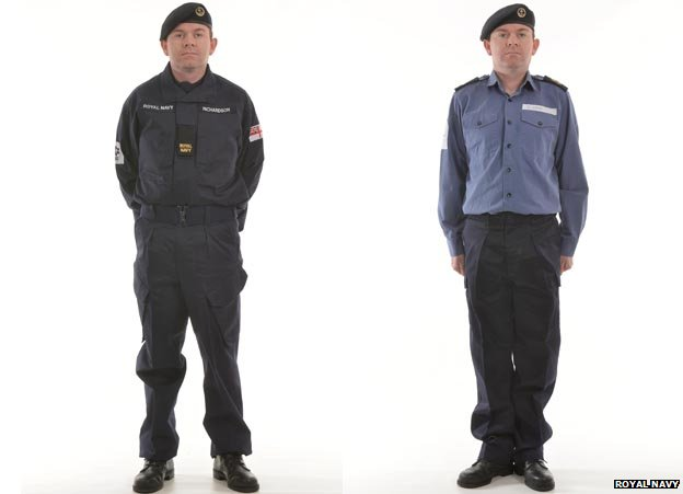 BBC News - Royal Navy unveils 'modern' uniform