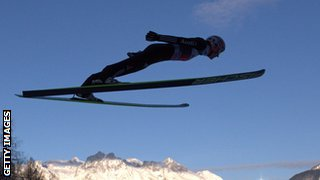 Ski jumping requires nerves