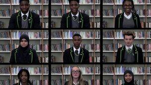 Nine pupils from Haggerston School took part