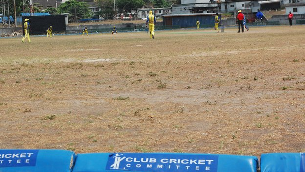 Cricketers playing in Lagos, Nigeria