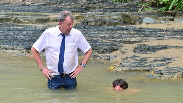 Jeremy Clarkson and Richard Hammond in Top Gear Burma special