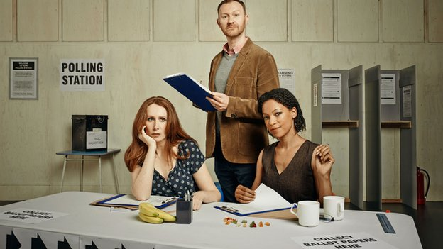Catherine Tate, Mark Gatiss and Nina Sosanya are among the cast of The Vote