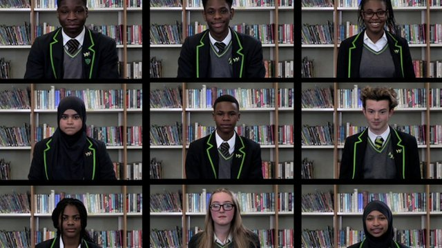The pupils who took on the challenge of giving up social media