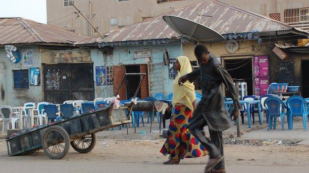 A bar in Sabon Gari, Kano, Nigeria