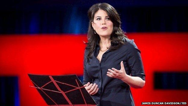 Monica Lewinsky sulla scena Ted