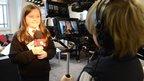 School Reporters using camera equipment