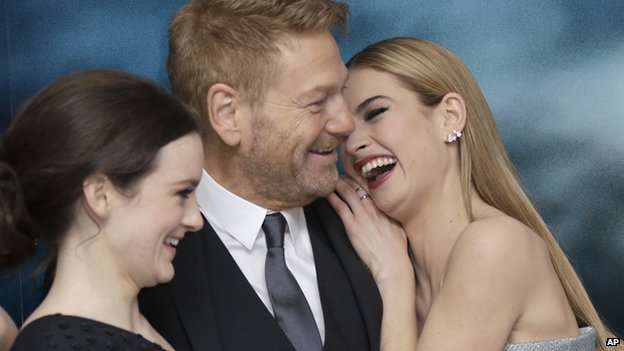 Sophie McShera, Kenneth Branagh and Lily James