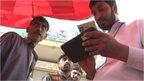 Pakistani officials register Sim card users