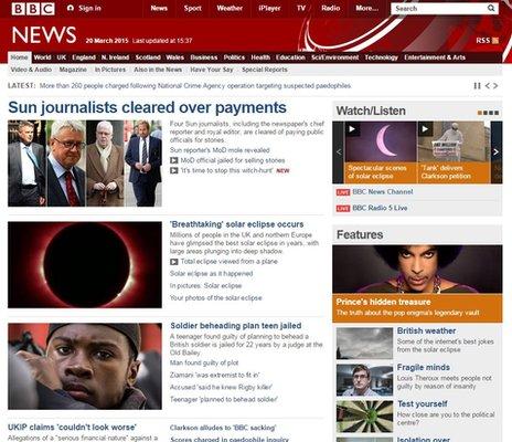 The BBC News website