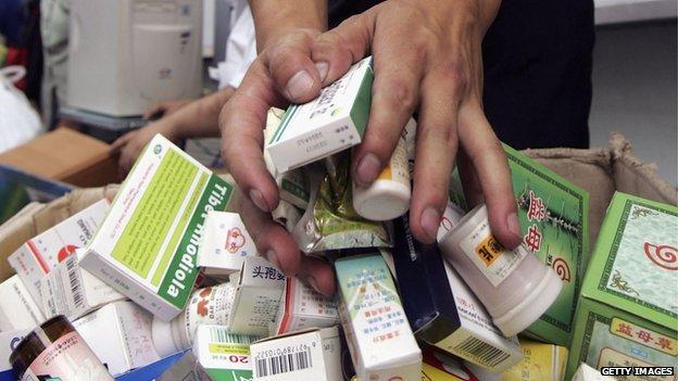 Medicines in Beijing, August 2005