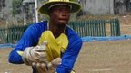 A Ibeju Lekki Cricket Club player in Lagos, Nigeria