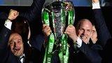 Ireland celebrate winning the Six Nations