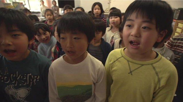 Japanese children in school
