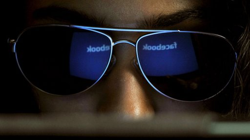 Facebook logo in sunglasses