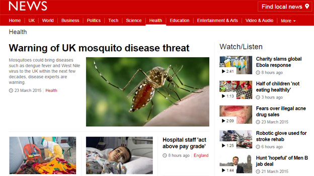 BBC News website health page