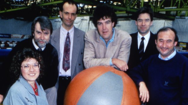 Top Gear presenting line up in 1992