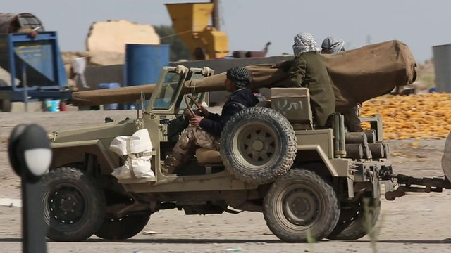 An armed vehicle in Iraq