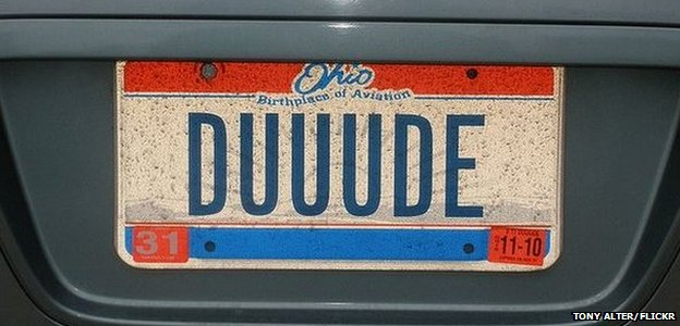 Duuude plate