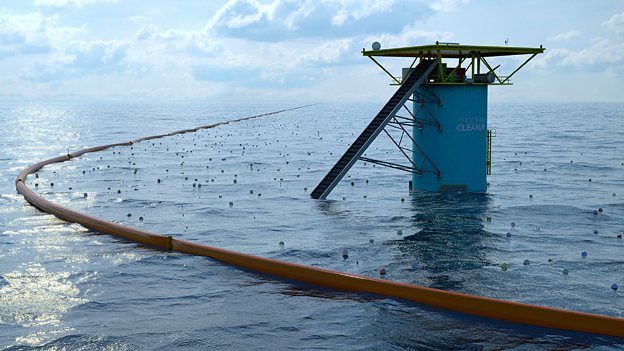 The Ocean Cleanup proposal - finalist in Designs of the Year 2015