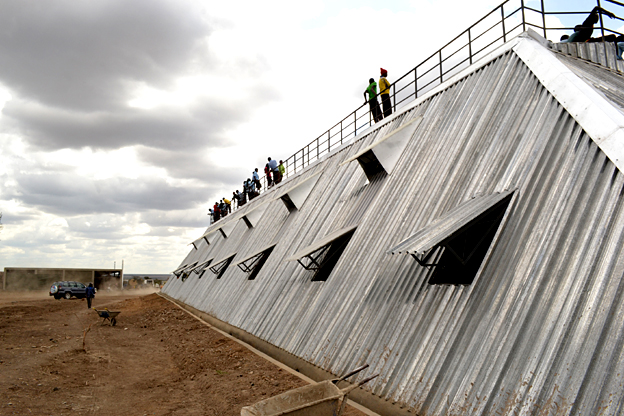 Rain harvesting building - Kenya - finalist in Designs of the Year 2015