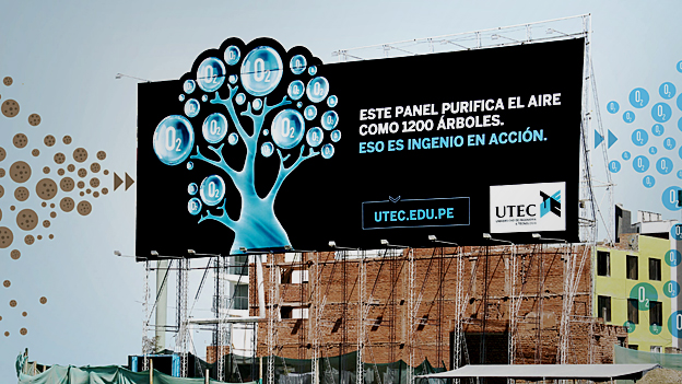 Billboard which removes pollution and filters air, Peru - finalist in Designs of the Year 2015