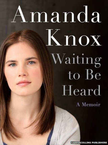 "This image courtesy of HarperCollins Publishers shows the book cover for ""Waiting to be Heard"", A Memoir by Amanda Knox."