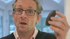 Michael Mosley with a blood sausage