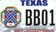 Texas Sons of Confederate Veterans licence plate