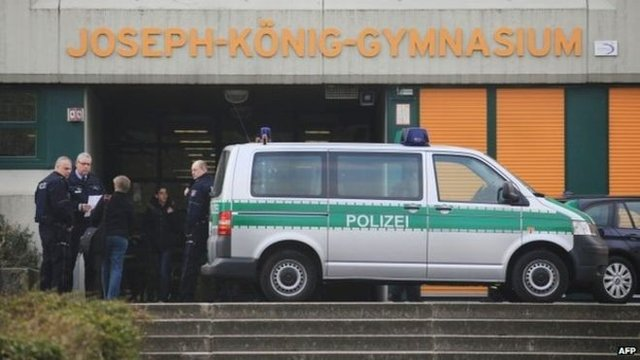 The school in western Germany has been closed for the day