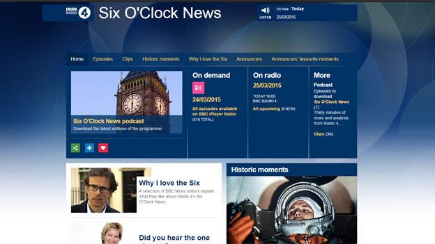 Six O'Clock News website