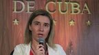 Federica Mogherini, speaks at a news conference in Havana on 24 March, 2015.