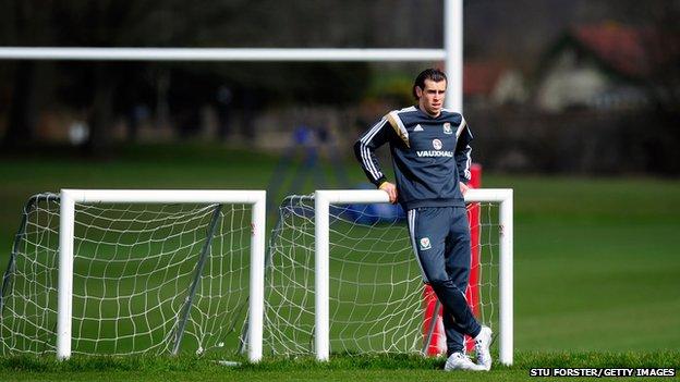Welsh footballer Gareth Bale