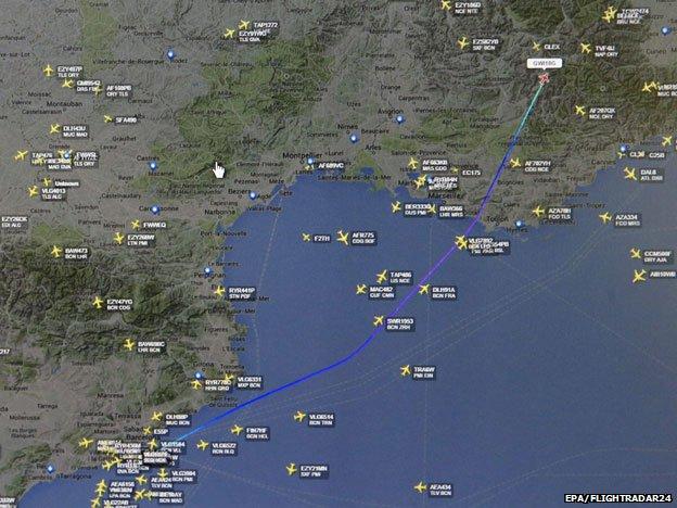 Flightradar web page