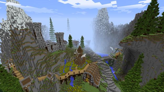Minecraft screenshot of a valley