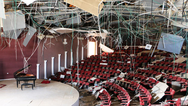 View of concert hall in Gaza