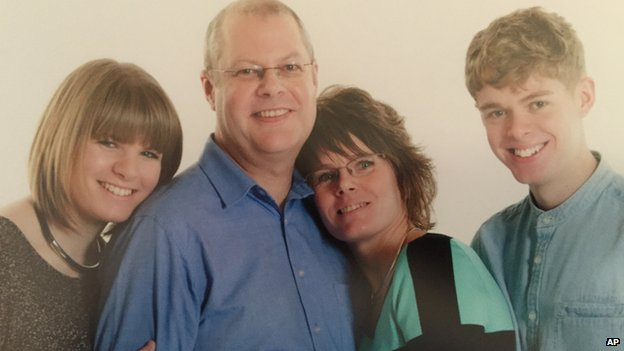 Martyn Matthews, with his daughter Jade, Martyn, wife Sharon and son Nathan.