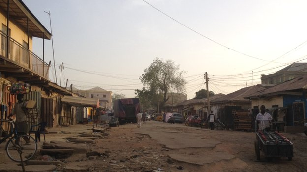 A street in Sabon Gari, Kano - Nigeria