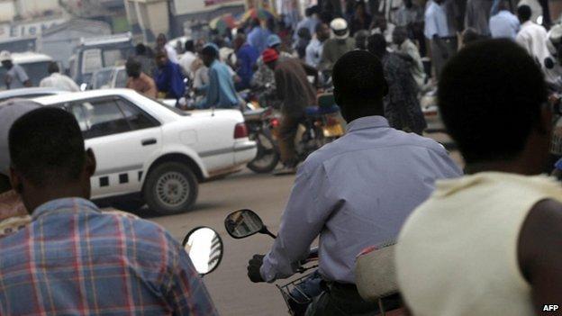 A crowded street in Kampala. File photo