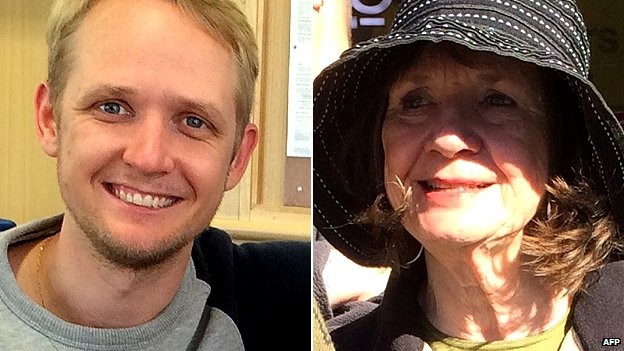 Greig Friday (left) and his mother Carol Friday